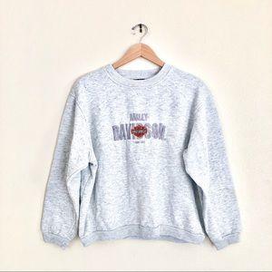 {VTG Harley Davidson} Embroidered Logo Pullover